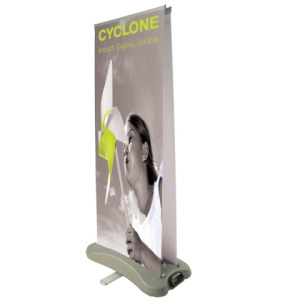 NEW - Outdoor Roll Up Banner - Cyclone