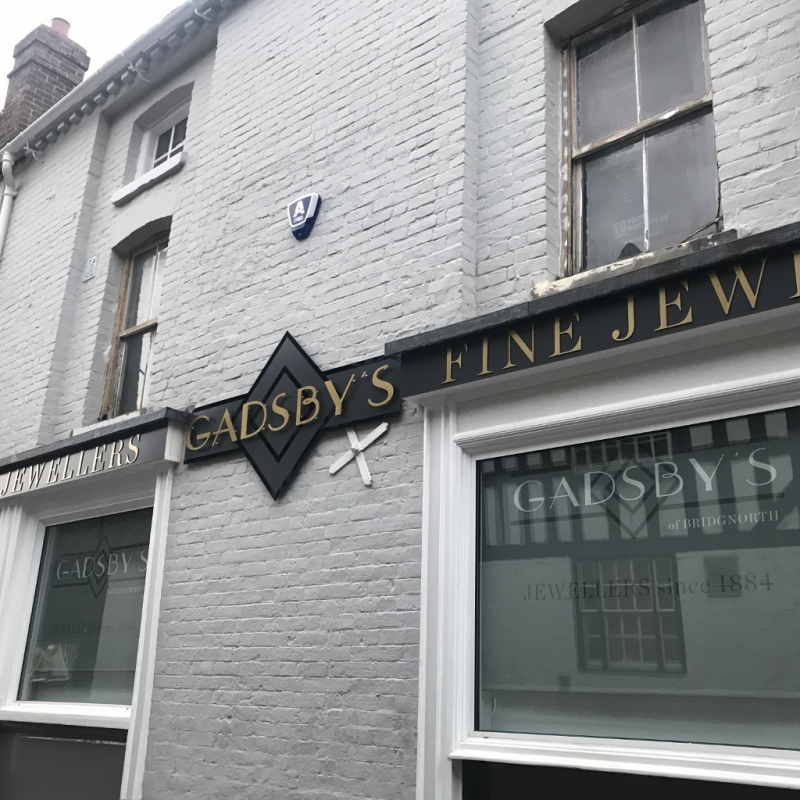 Gadsby's relocation inspires sophisticated new signage
