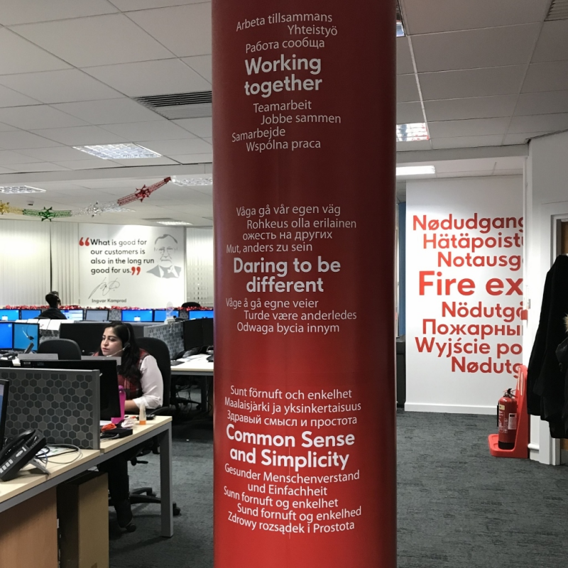Ikano upgrades Telford office with unique graphics