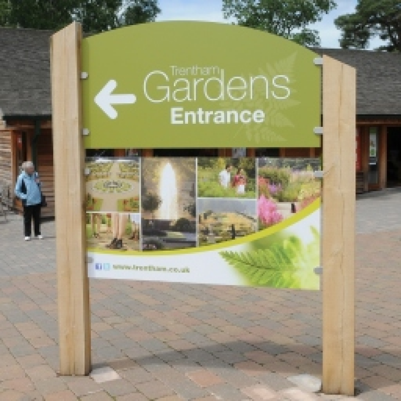 Signage for Trentham Gardens visitor attraction