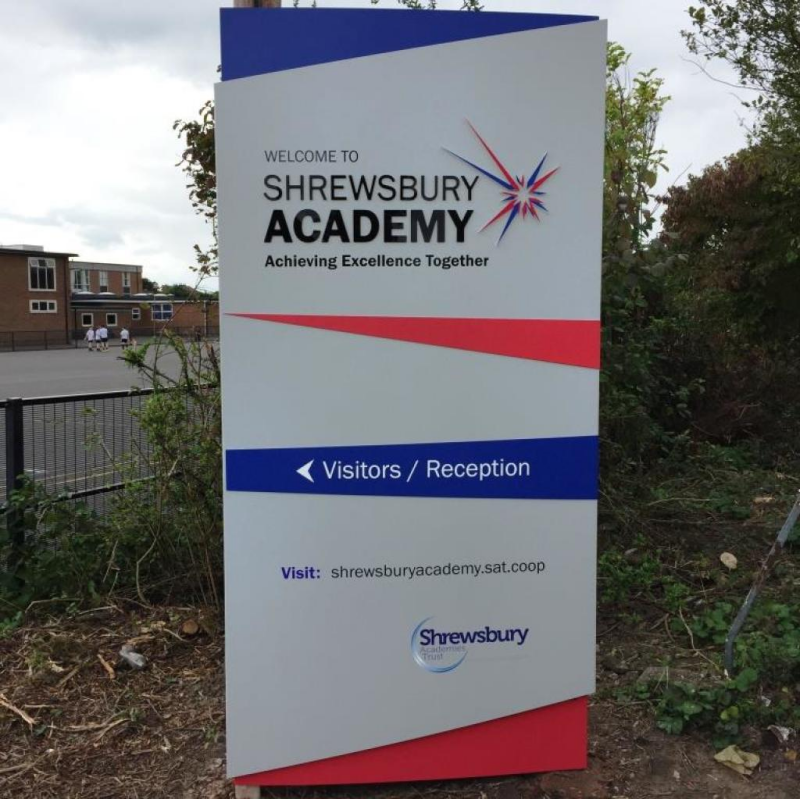 Striking Monolith signage for new Shropshire academy