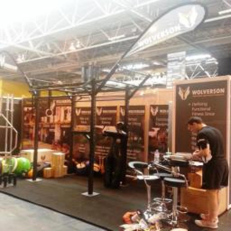 Strong branding and imagery maximise Wolverson Fitness' exhibition stand impact