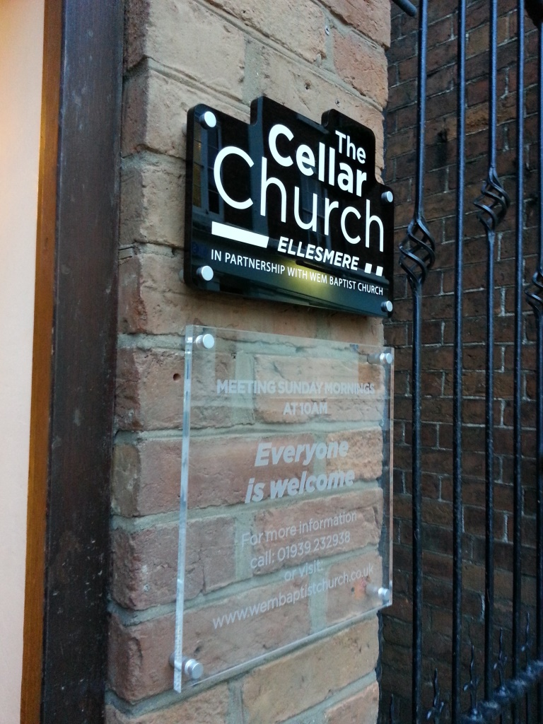 The Cellar Church Acrylic Signage