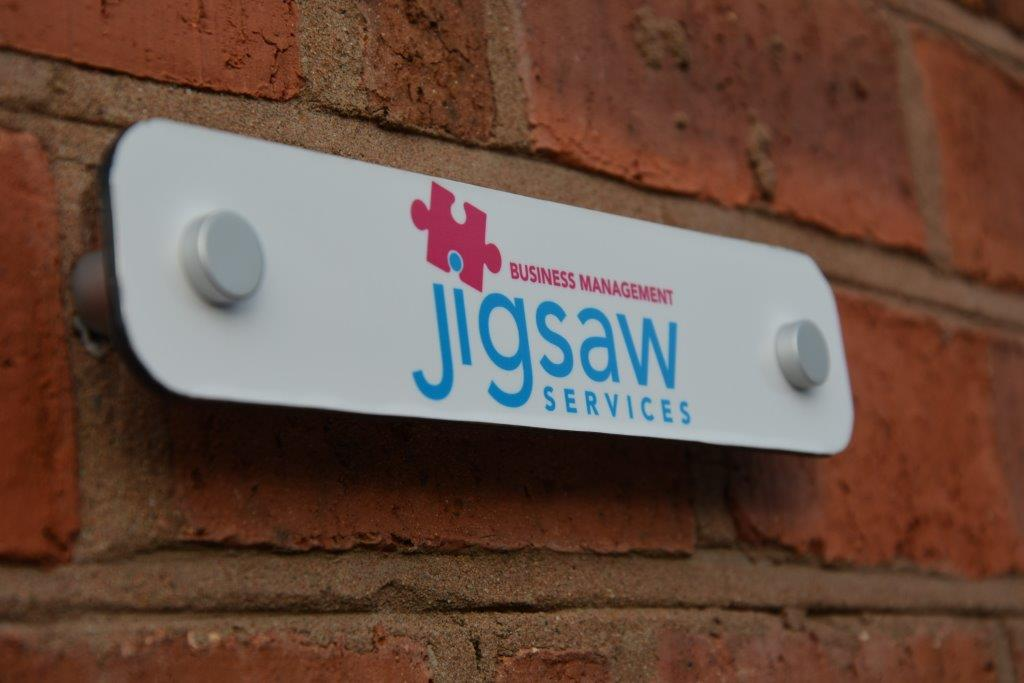 Jigsaw Business Name Plaque
