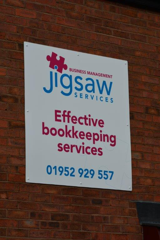 Jigsaw Dibond Building Sign