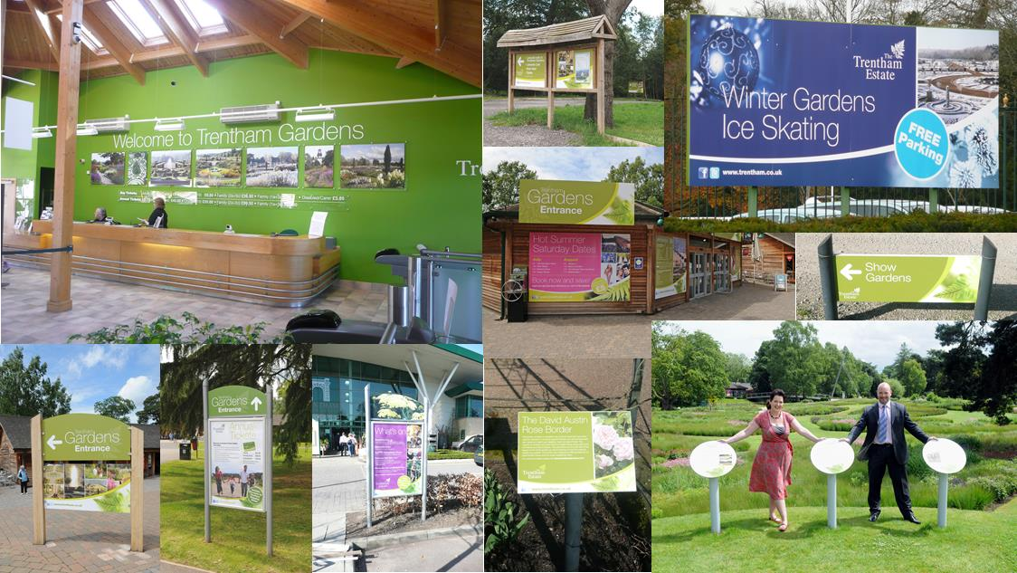 The Trentham Estate visitor attraction signage