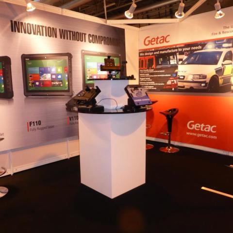 Getac bespoke quadrant  display unit