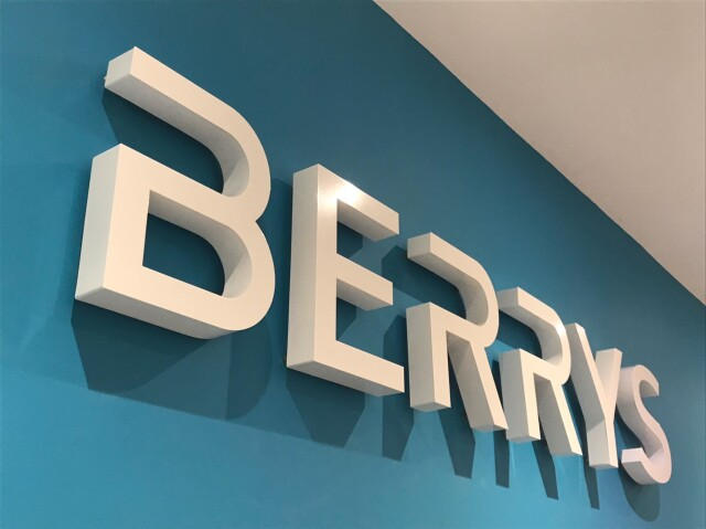 Berrys Built Up Letters for Signs