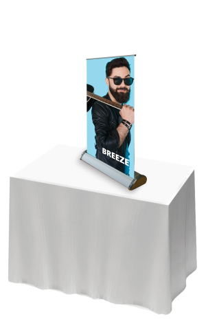 Breeze Desk Top Roll Up Banner