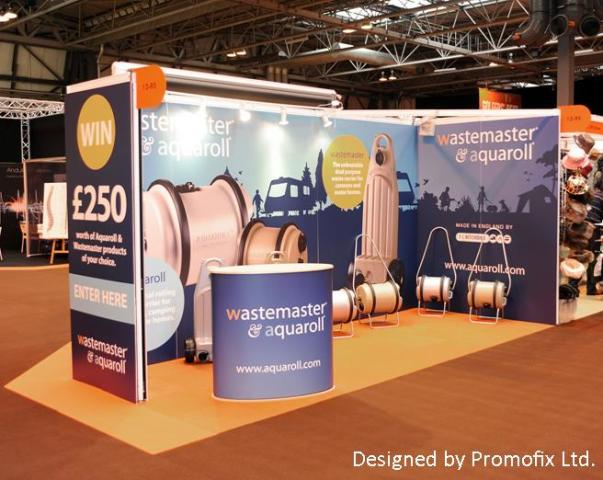 Aquaroll Exhibition Stand Foamex panels
