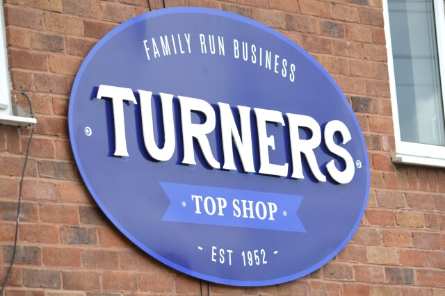 Turners Top Shop Acrylic Sign Board