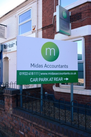 Midas Accountants Exterior Signage