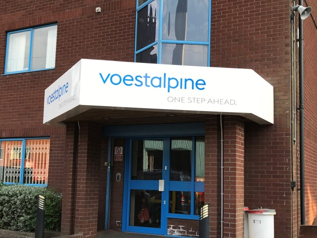 Voestalpine Fascia Sign