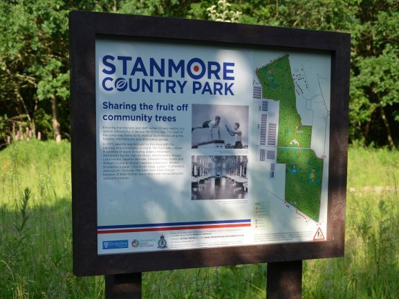 Stanmore Country Park Recycled Plastic Interpretation Sign