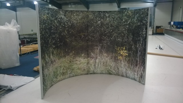 Curved Freestanding Tension Fabric Display