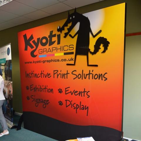 Kyoti Graphics Freestanding Tension Fabric Display