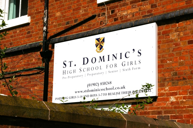 St Dominics Sign