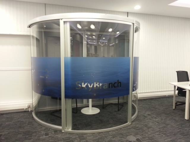 Barclays Skybranch Meeting Pod Privacy Window Graphics