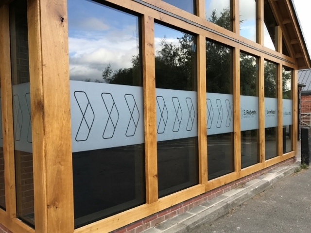 Lowfield Timber Frosted Window Graphics